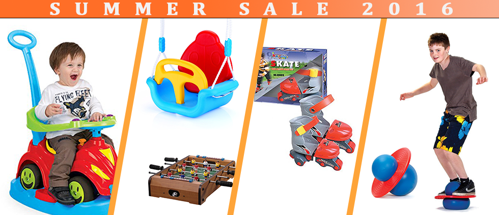 summer sale 2016, dolu 3 in 1 swing, kids roller skate, rock n hopper
